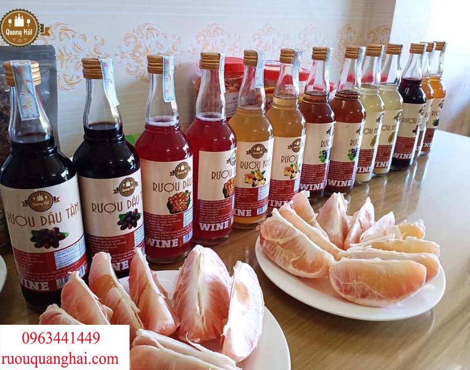 Các sản phẩm rượu trái cây Quang Hải được lên men hoàn toàn bằng phương pháp truyền thống tự nhiên