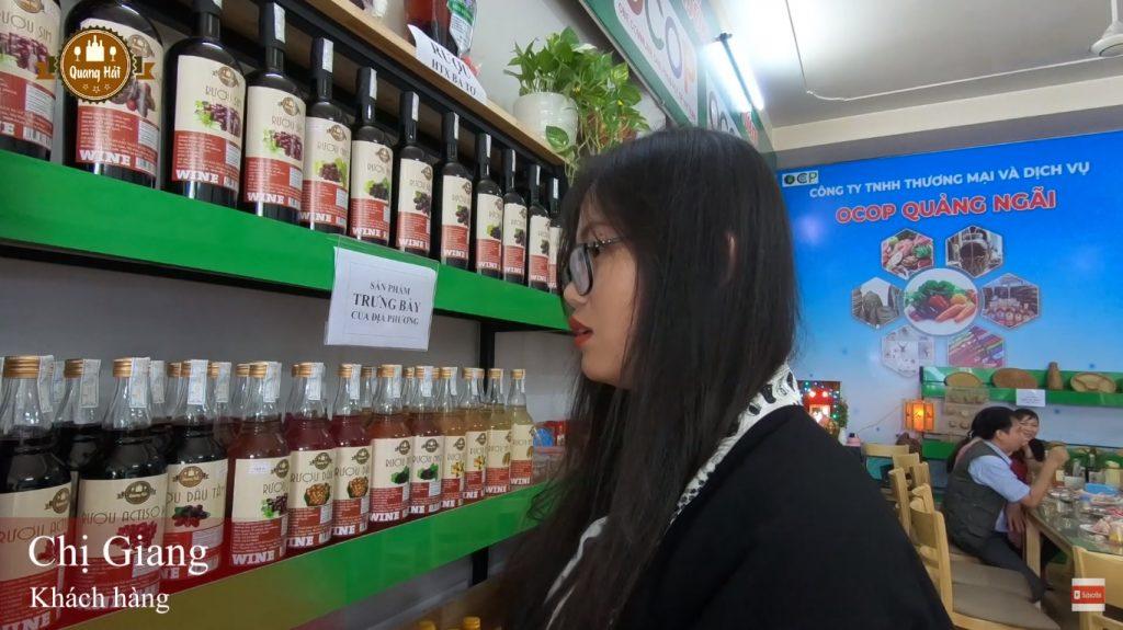 Cảm nhận của chị Giang về rượu Quang Hải Quảng Ngãi