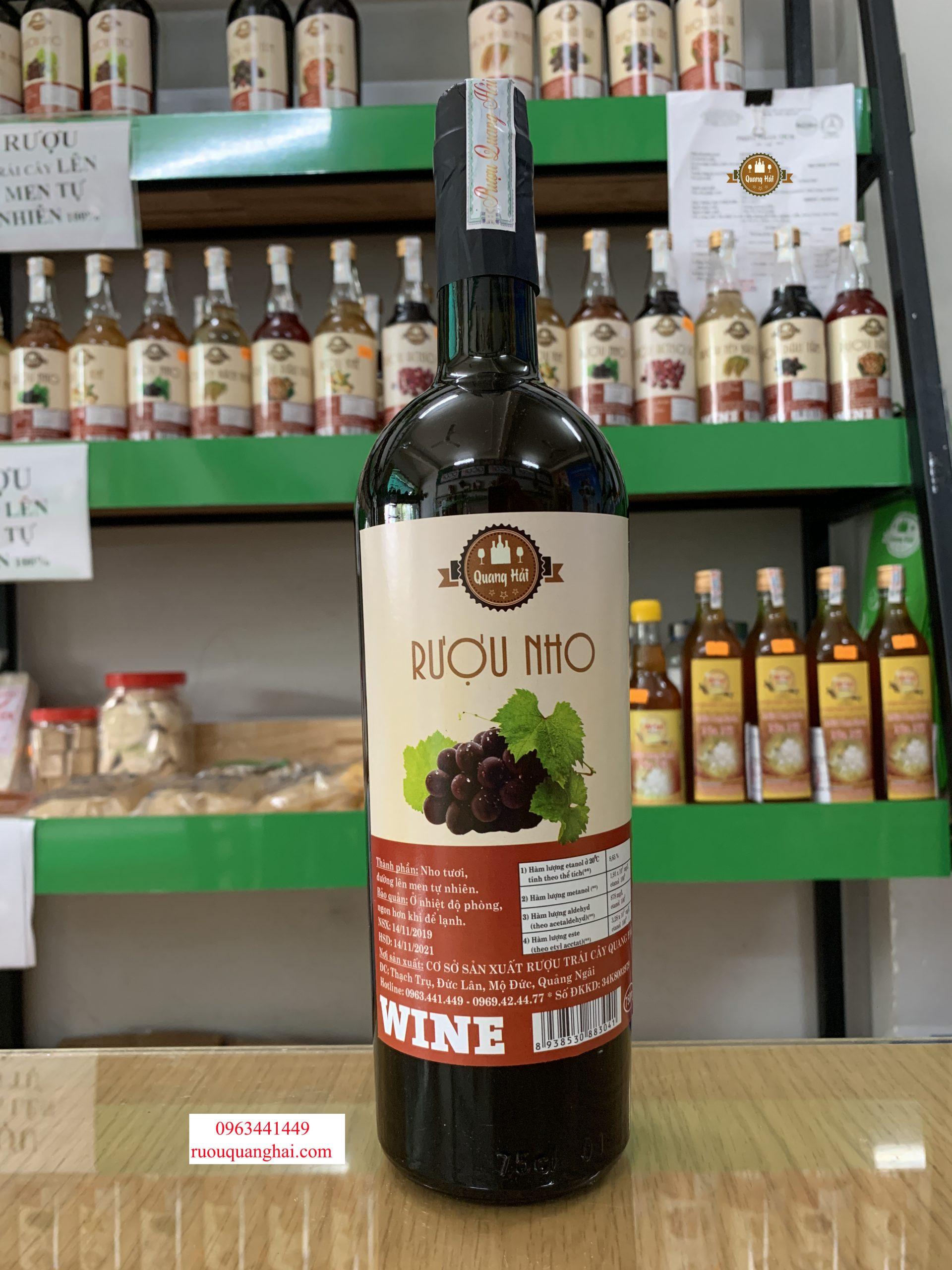 Rượu Nho Quang Hải Quảng Ngãi được sản xuất theo đúng quy trình